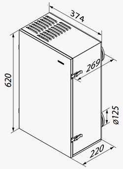Ruumipõhine soojustagastusega ventilatsiooniseade