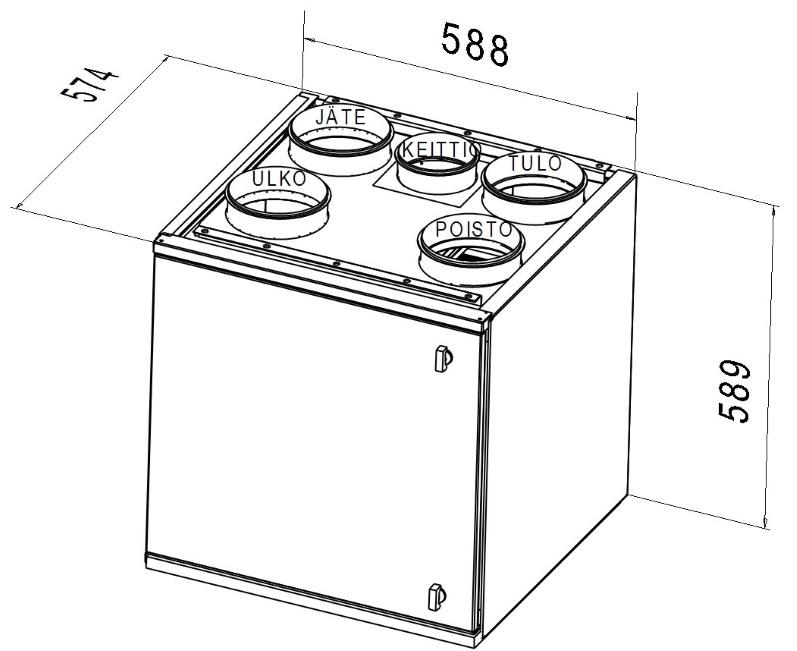 Ventilatsiooniagregaat DEEKAX TALTERI DIVK-C 120 DE parem