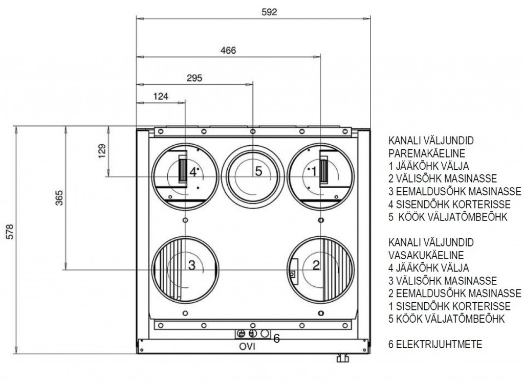 Ventilatsiooniagregaat DEEKAX TALTERI DIVK-C 120 DE