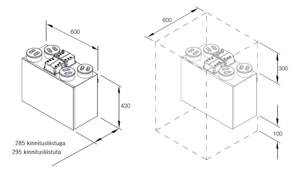 Soojustagastusega kompaktne ventilatsiooniagregaat