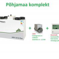 Niiskuse kontrolliga ventilatsiooniseade Titon HRV1.35